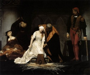 An idealistic portrayal of the killing of Lady Jane Grey