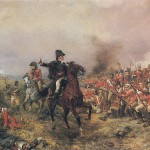 A romantic depiction of the bloody battle at Waterloo